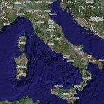 Italy satellite map